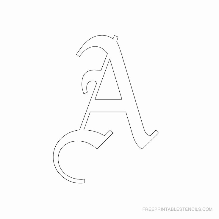 3 inch block letter stencils printable