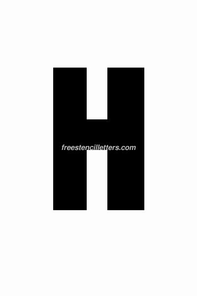 6 Inch Letters Printable Beautiful Print 6 Inch H Letter Stencil Free Stencil Letters