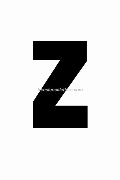 6 Inch Letters Printable New Print 6 Inch Z Letter Stencil Free Stencil Letters