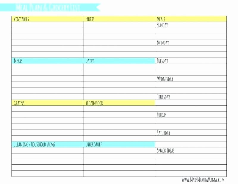 7 Day Meal Plan Template Awesome 7 Day Menu Template – Psychicnights