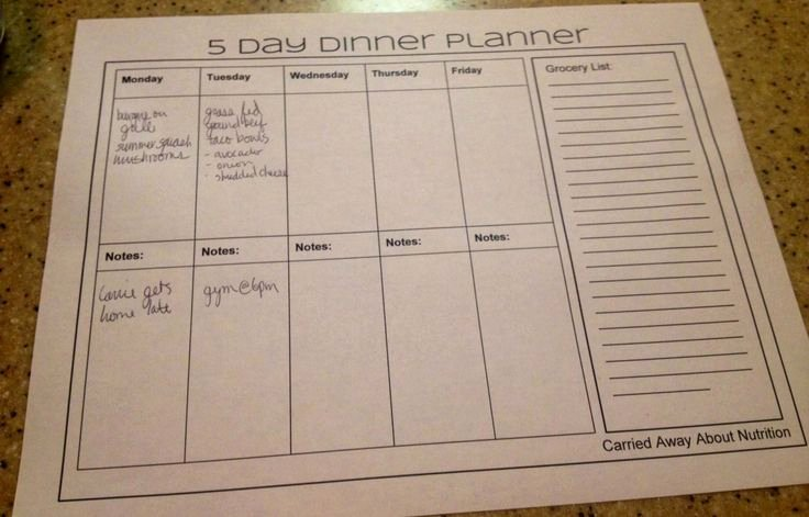 7 Day Meal Plan Template Beautiful 7 Day Dinner Planner Template Related Keywords 7 Day