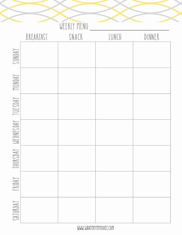 7 Day Meal Plan Template Best Of Free Printable Weekly Meal Planning Templates and A Week