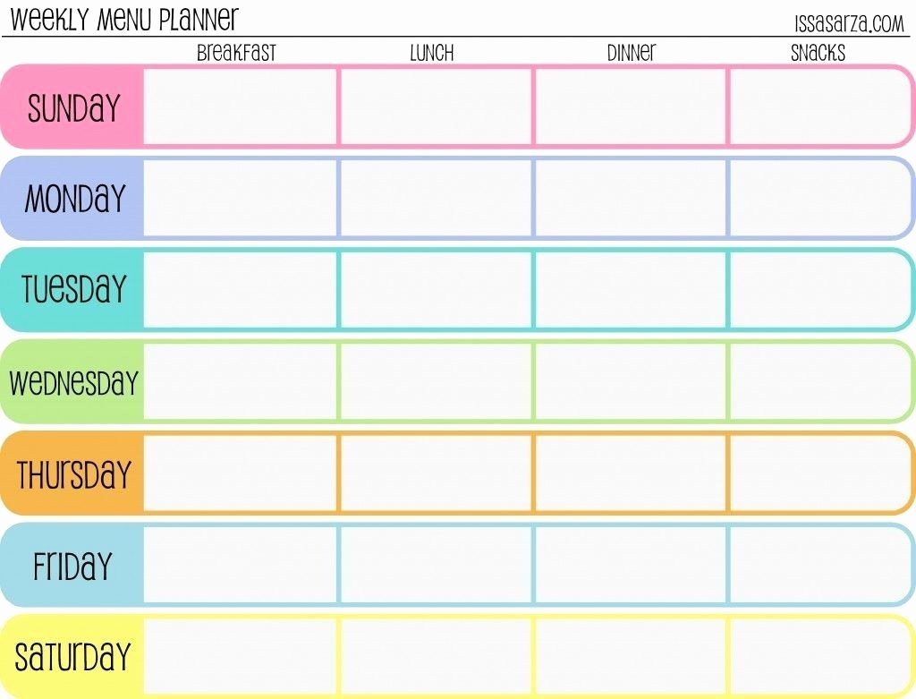 7 Day Meal Plan Template Elegant 7 Day Weekly Planner Template Yeniscale 7 Day Weekly