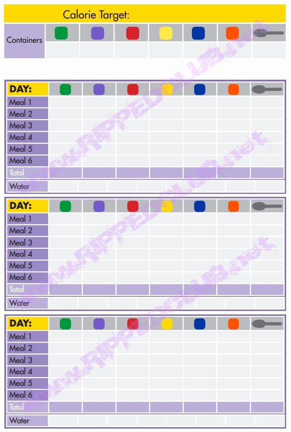 7 Day Meal Plan Template Elegant Fix 21 Day Meal Plan Template