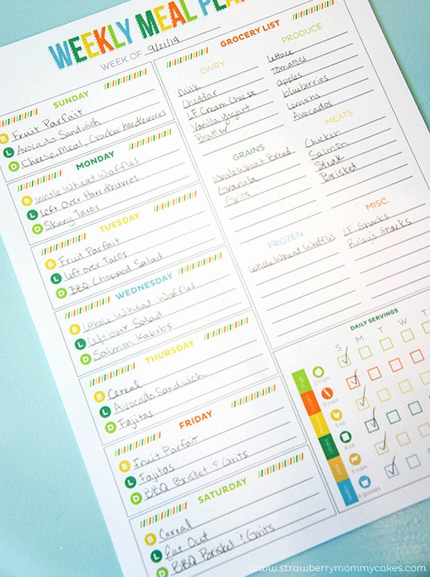 7 Day Meal Plan Template Elegant Printable Meal Planning Templates to Simplify Your Life