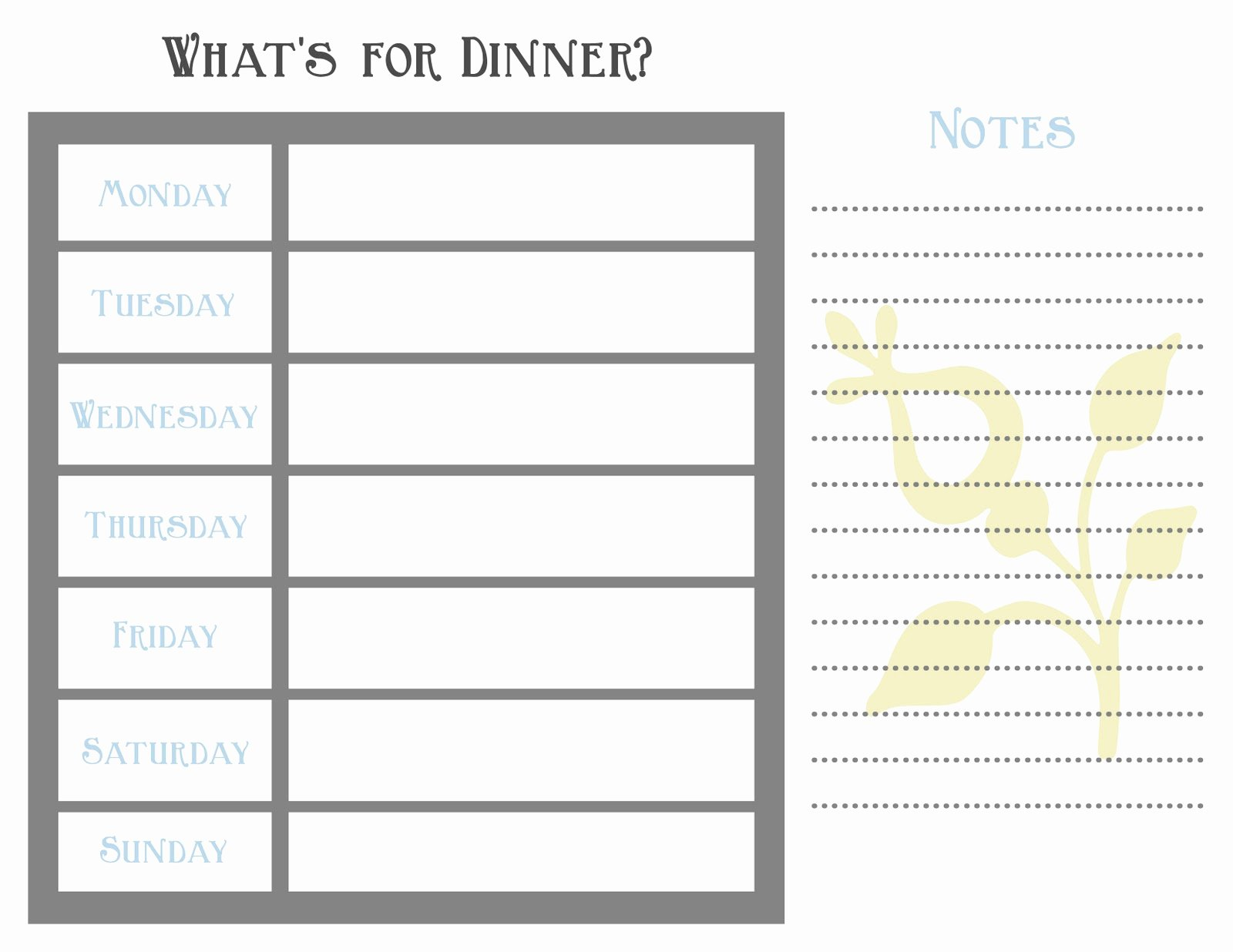 7 Day Meal Plan Template Luxury 7 Day Meal Planner Template