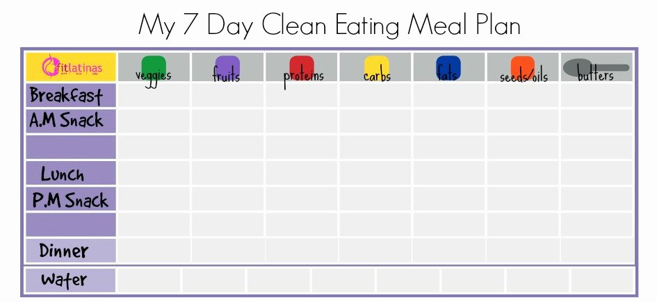 7 Day Meal Plan Template Luxury Clean Eating Meal Plan Latina Leaders In Health & Fitness