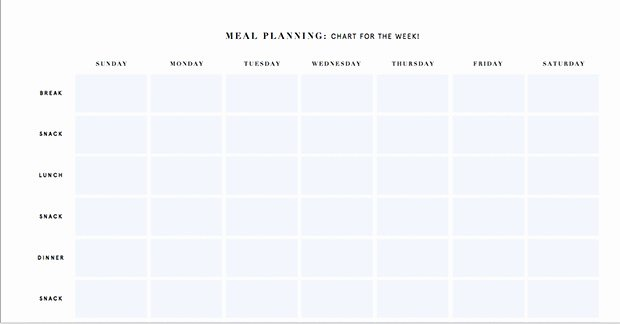 7 Day Meal Plan Template New Printable Meal Planning Templates to Simplify Your Life