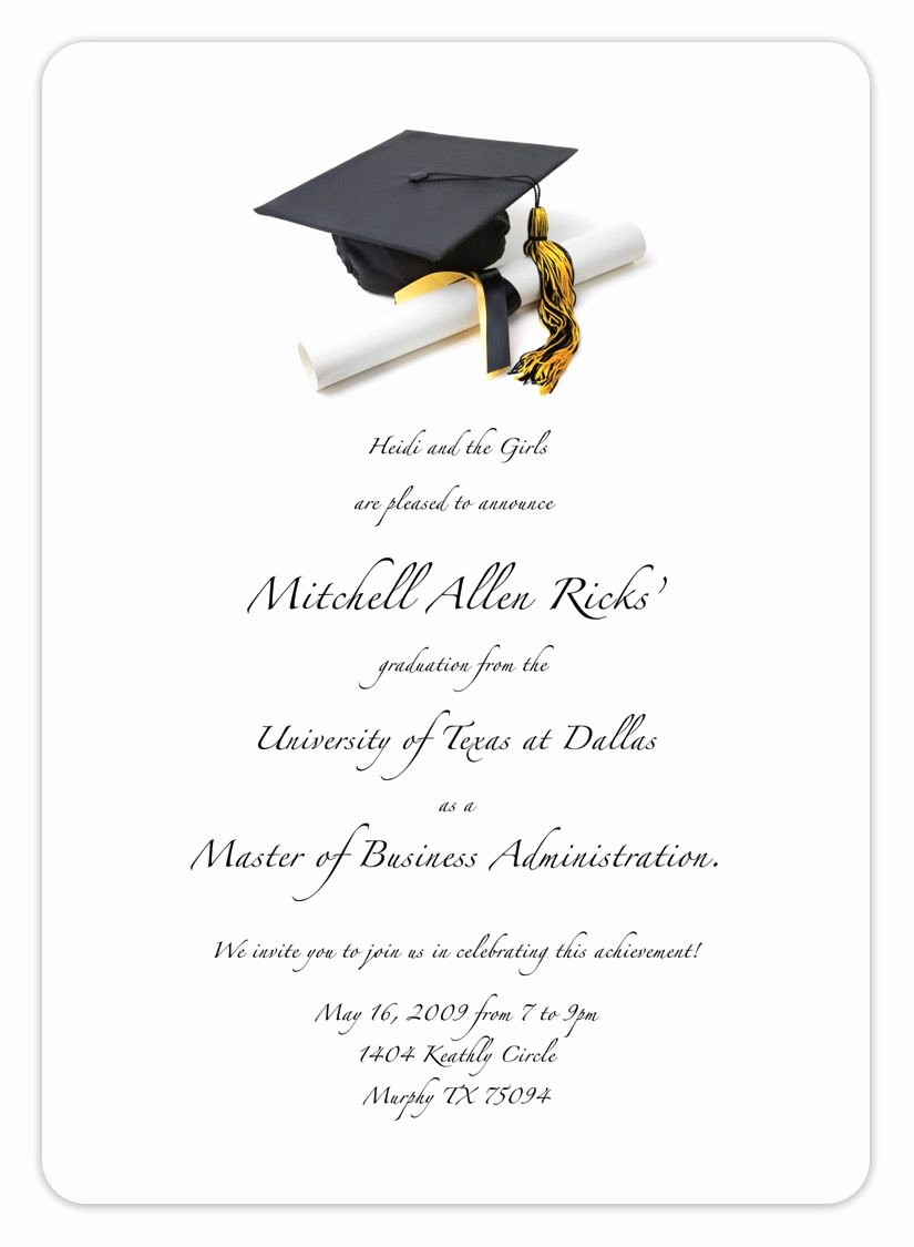 8th Grade Graduation Program Template Elegant Free Printable Graduation Invitation Templates 2013 2017