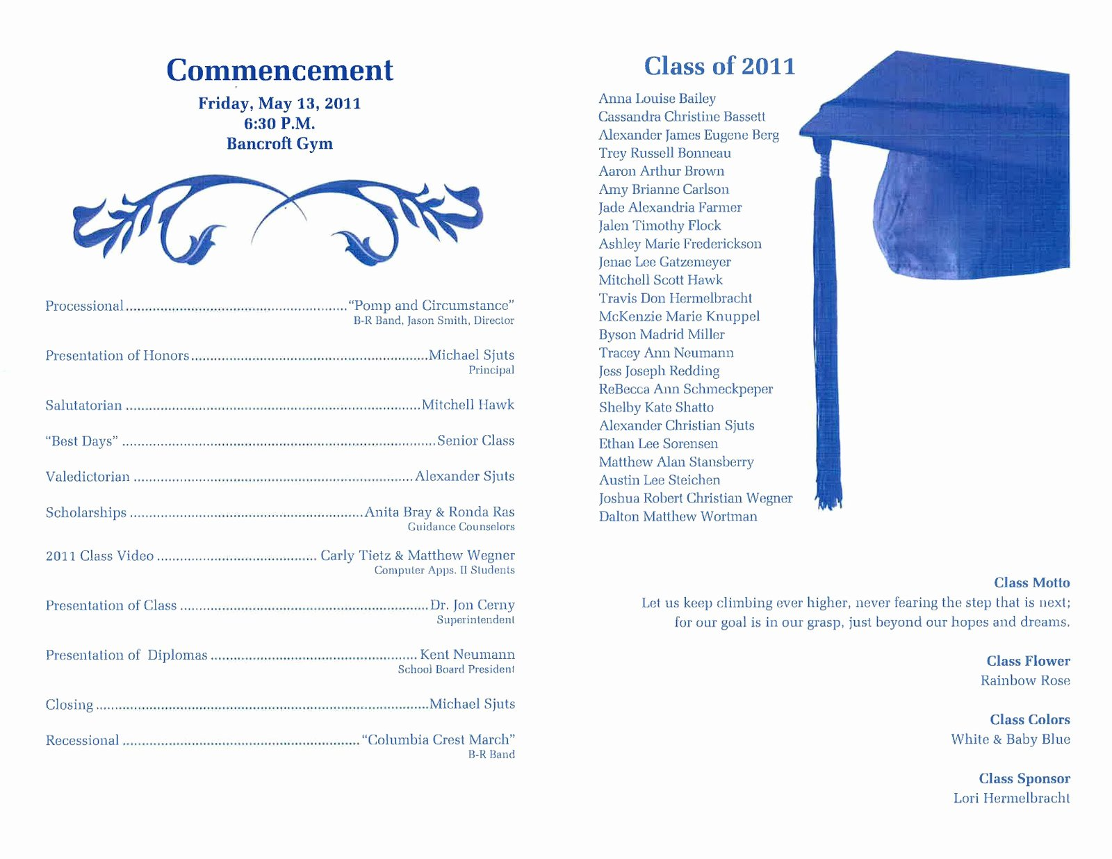 8th Grade Graduation Program Template Inspirational 29 Of High School Graduation Program Template