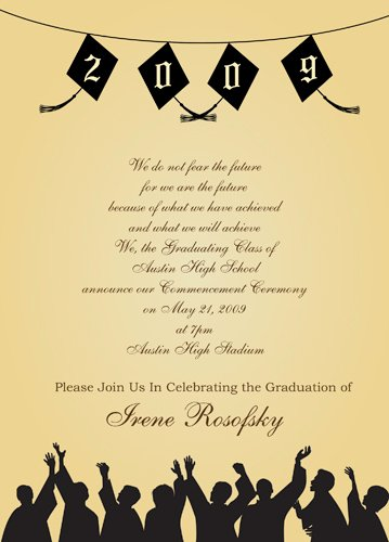 graduation invitations party city