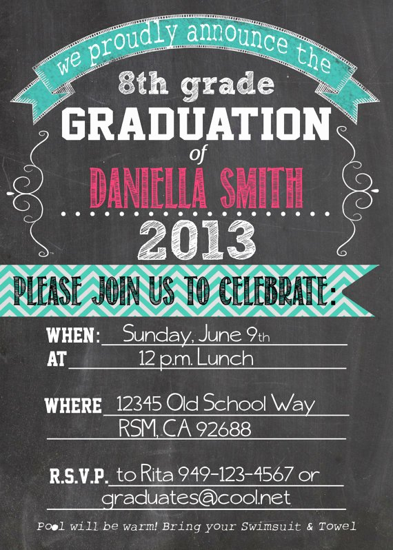 8th Grade Graduation Program Template Lovely Graduation Invitation Templates 8th Grade Graduation