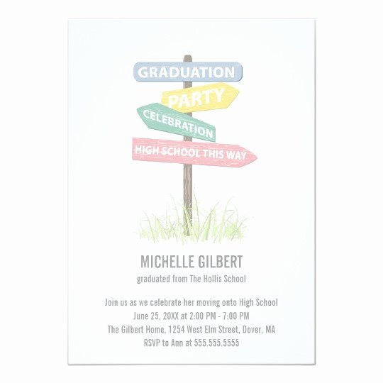 8th Grade Graduation Program Template New Street Sign 8th Grade Gradution Party Card