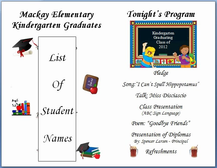 8th Grade Graduation Program Template Unique 39 Best Images About Pre K Graduation On Pinterest