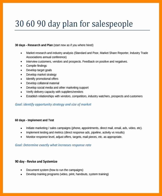 90 Day Action Plan Template Elegant 20 30 60 90 Day Action Plan Template Free Sample Example