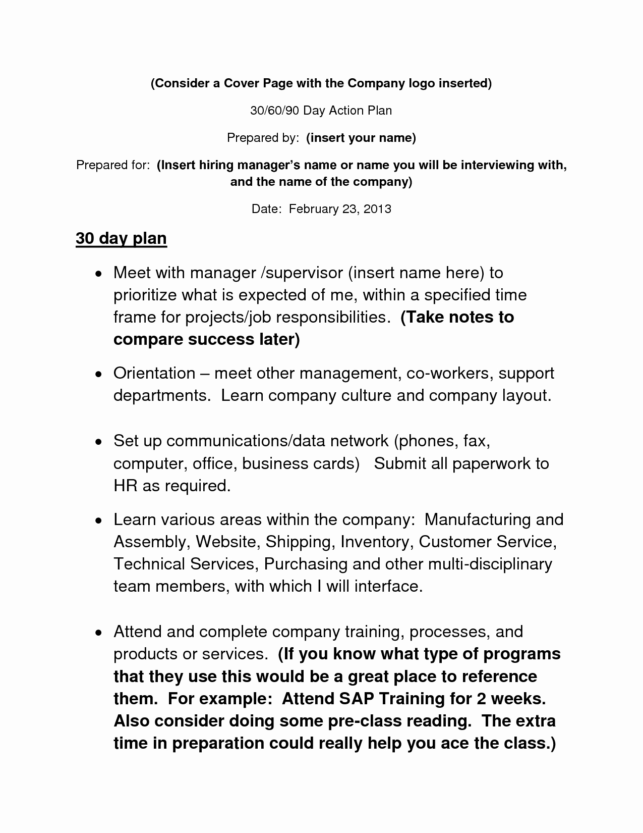 90 Day Business Plan Template Beautiful 30 60 90 Day Action Plan Template Info