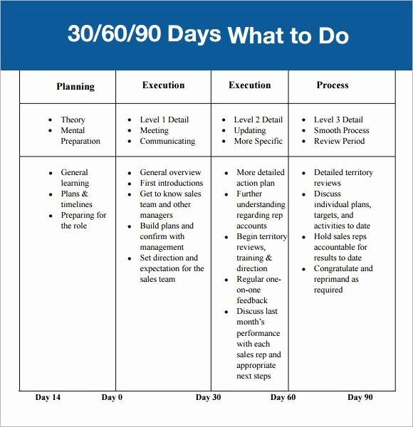 90 Day Business Plan Template Beautiful 30 60 90 Day Plan Template Affordablecarecat
