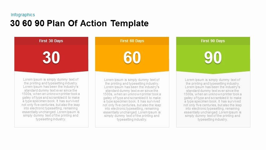 90 Day Business Plan Template Beautiful 30 60 90 Plan Action Powerpoint and Keynote Template