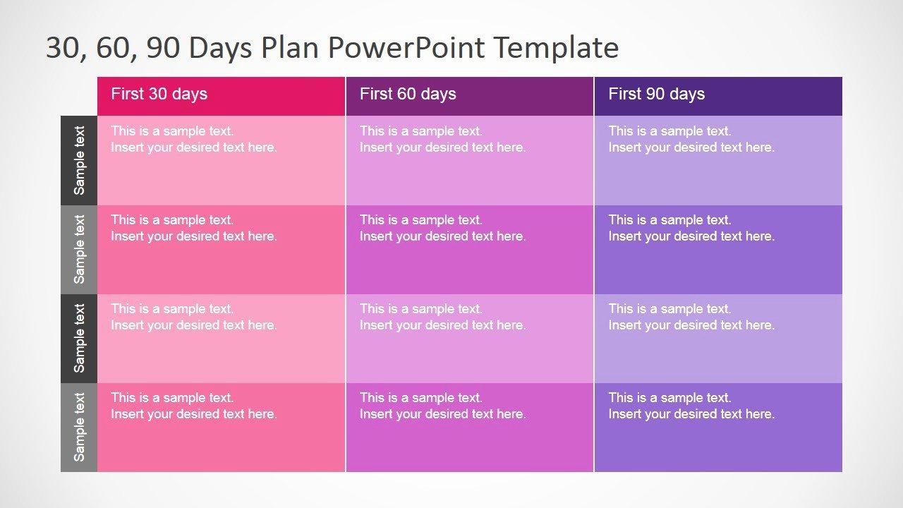 90 Day Business Plan Template Fresh 30 60 90 Days Plan Powerpoint Template Slidemodel