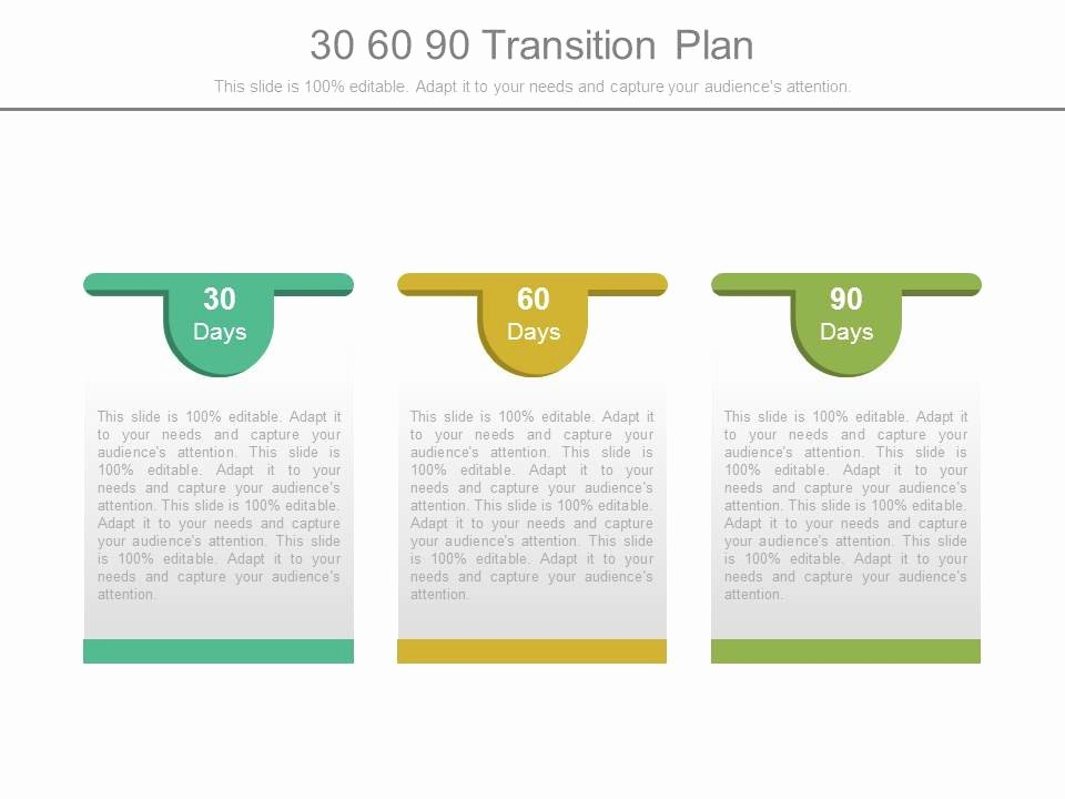 90 Day Business Plan Template Fresh Style Layered Horizontal 3 Piece Powerpoint