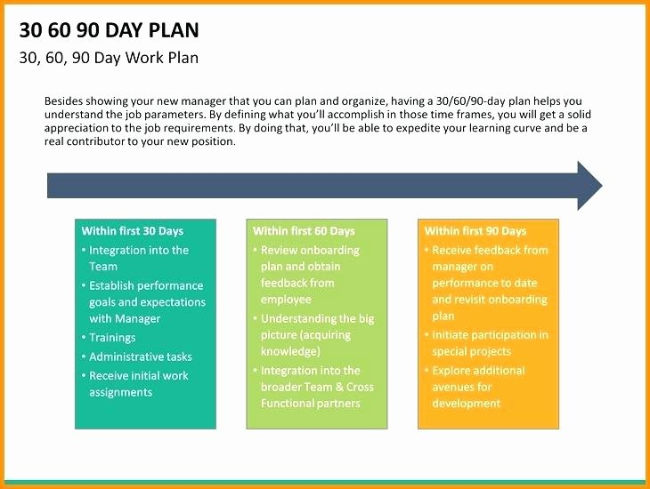 90 Day Business Plan Template Unique 30 60 90 Day Business Plan Examples Days Action Plan