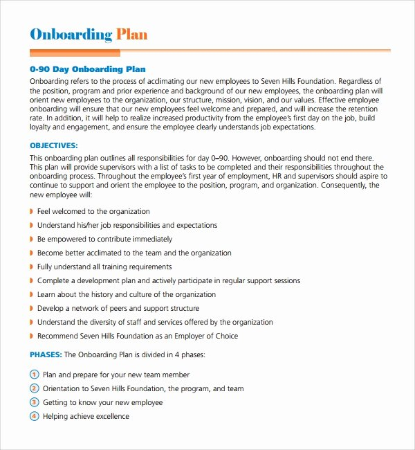 90 Day Onboarding Plan Template Best Of Sample Boarding Plan Template 7 Free Documents In Pdf