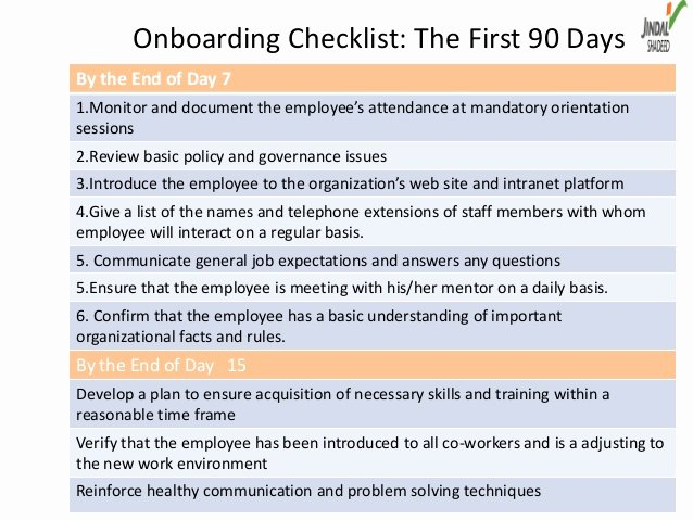 90 Day Onboarding Plan Template Luxury Boarding as A Way Of Talent Management