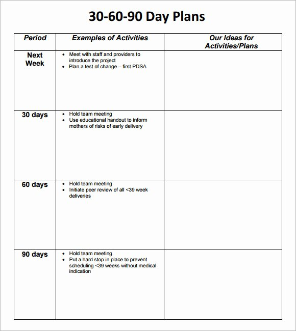 90 Day Plan Template Elegant 30 60 90 Day Plan Template 8 Free Download Documents In Pdf