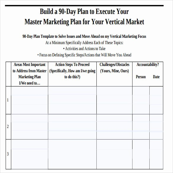 90 Day Plan Template Elegant Sample 90 Day Plan 14 Documents In Pdf Word