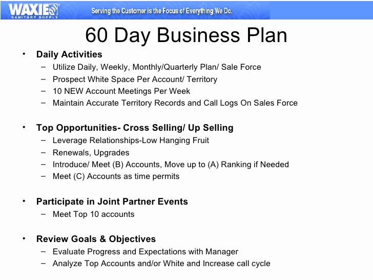 90 Day Sales Plan Template Lovely 30 60 90 Business Plan