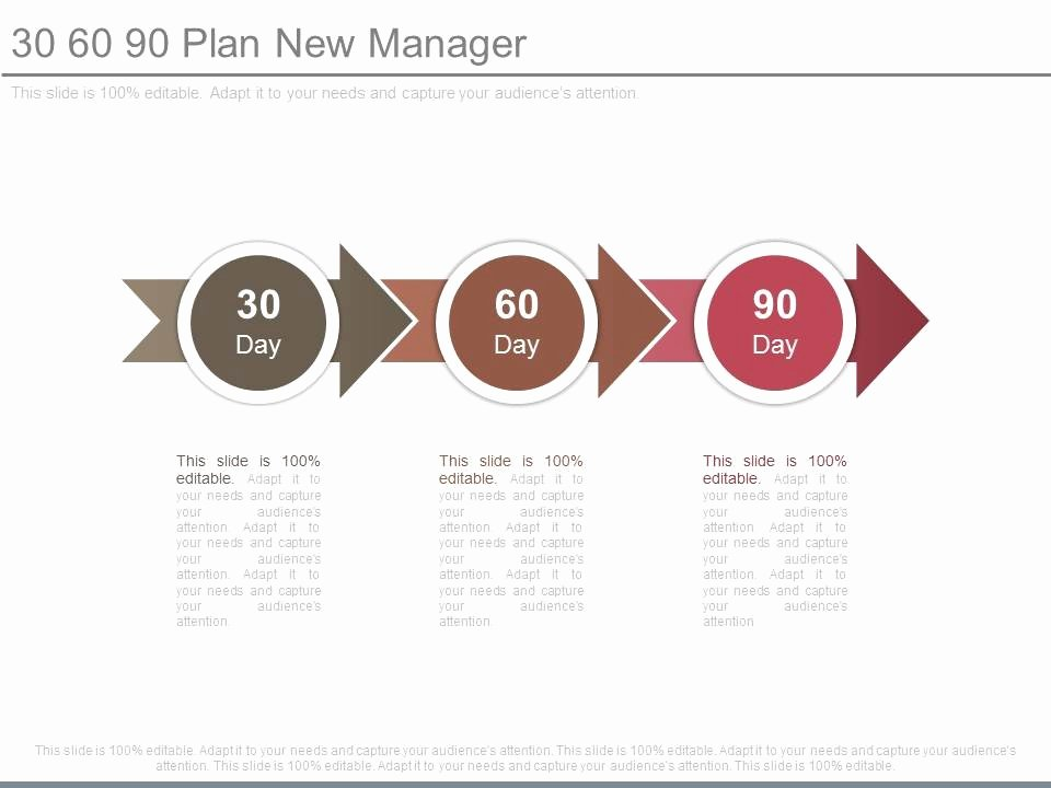 90 Day Sales Plan Template Luxury 30 60 90 Plan New Manager Powerpoint Templates