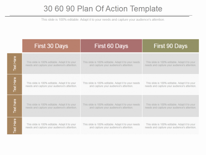 90 Days Action Plan Template Awesome 30 60 90 Day Plan Designs that'll Help You Stay On Track