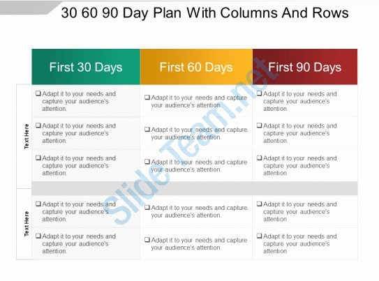 90 Days Action Plan Template Best Of Style Layered Horizontal 3 Piece Powerpoint
