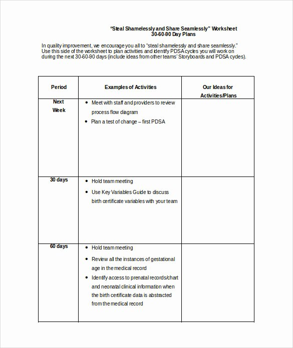 90 Days Action Plan Template Luxury 20 30 60 90 Day Plan Samples Pdf Word
