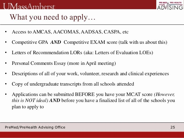 Aacomas Letter Of Recommendation Fresh Applying to Medical School