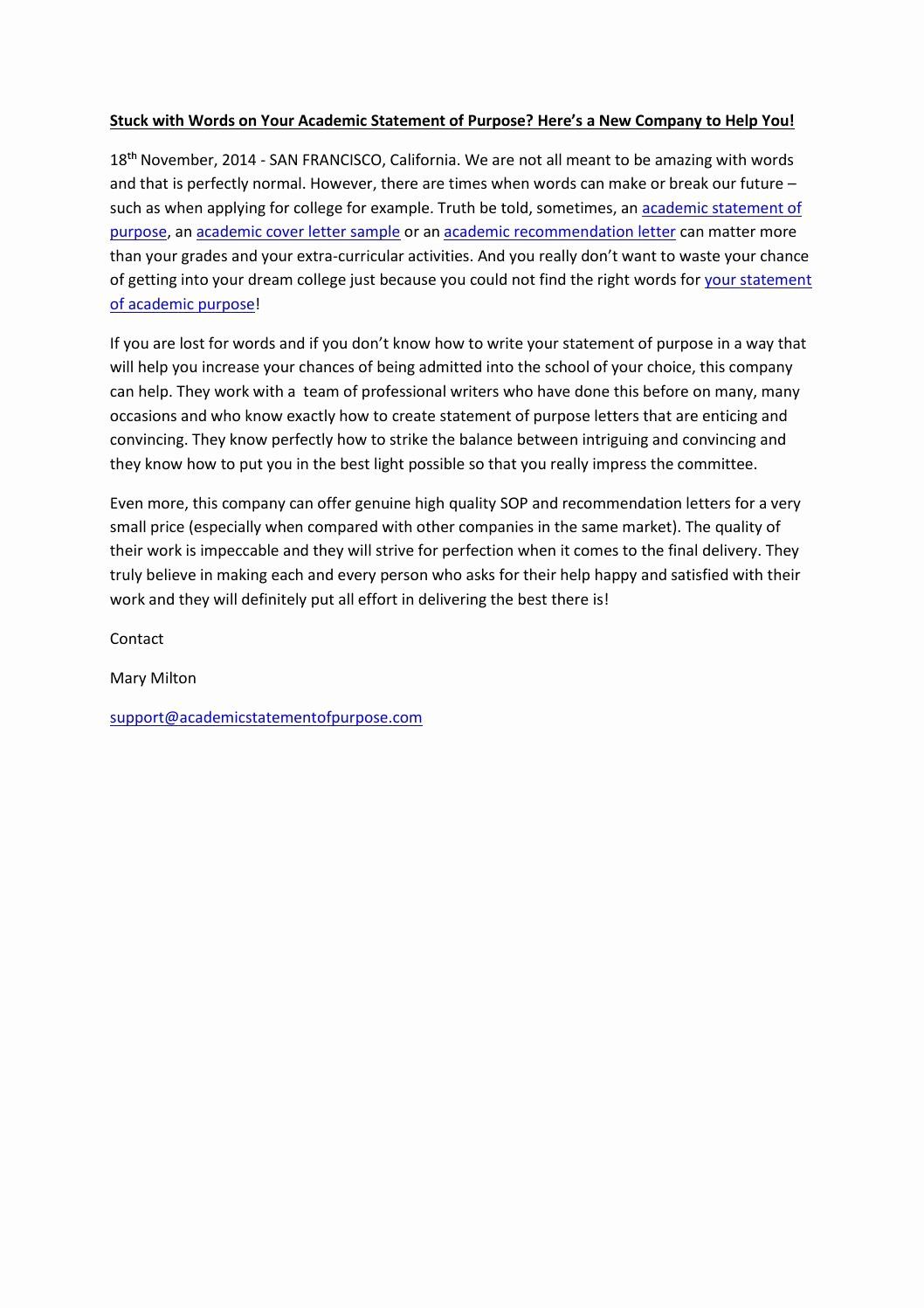 Academic Cover Letter format Beautiful Stuck with Words On Your Academic Statement Of Purpose