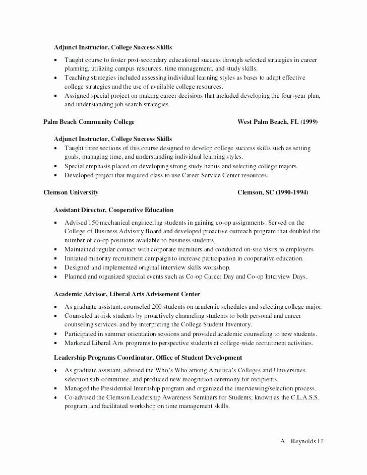 Academic Cover Letter format Fresh Sample Academic Advisor Cover Letter