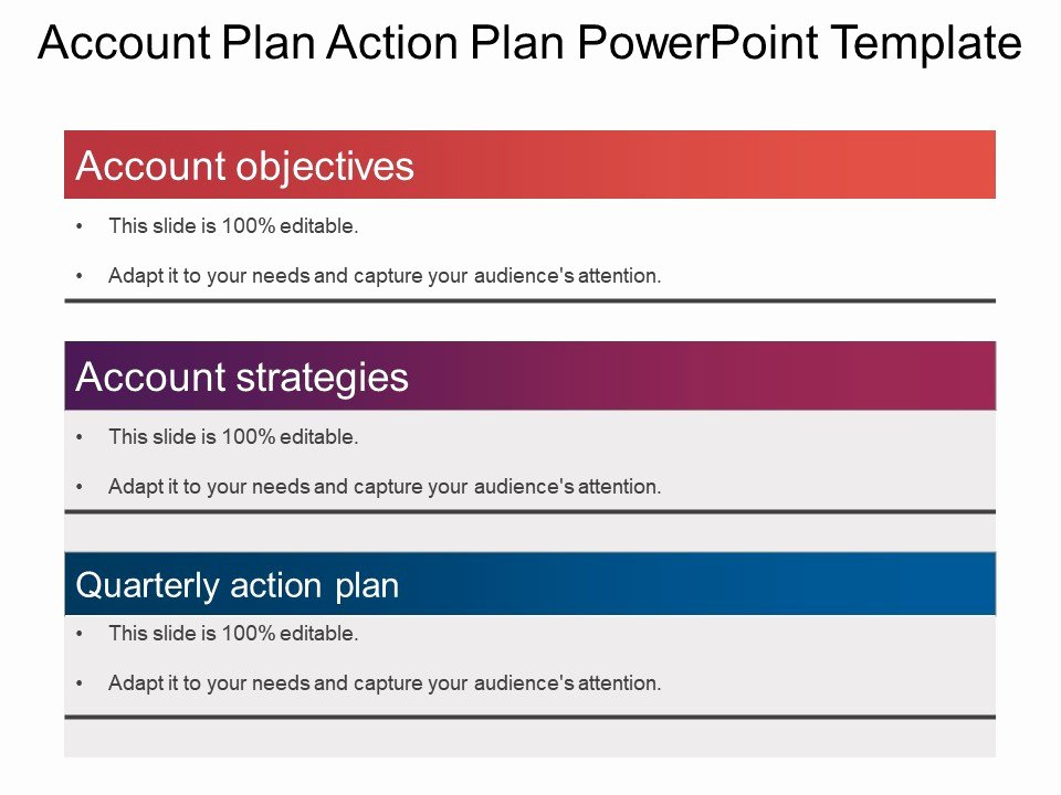 Account Plan Template Ppt Luxury Account Plan Action Plan Powerpoint Template