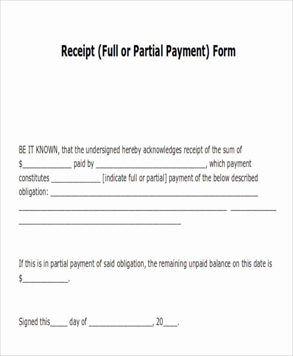 Acknowledgement Of Receipt form Template Best Of 14 Payment Receipt Acknowledgment – Pdf Word Excel
