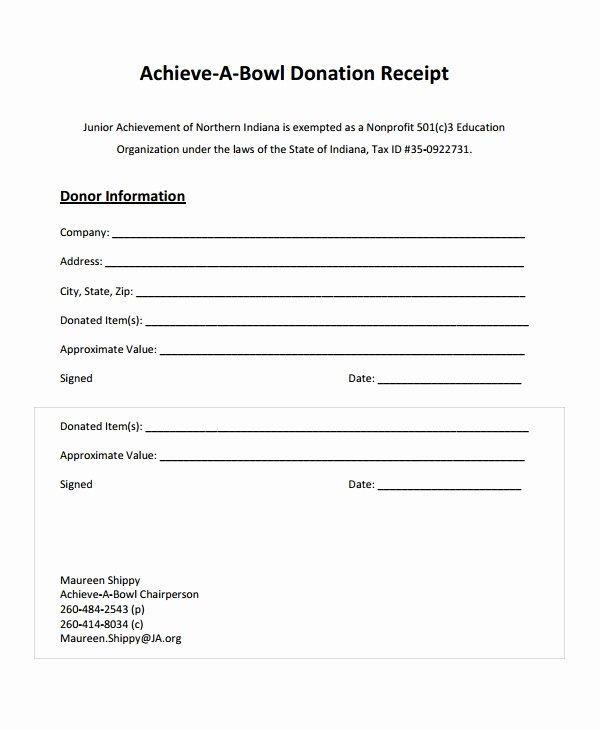 Acknowledgement Of Receipt form Template Inspirational 28 Receipt Templates