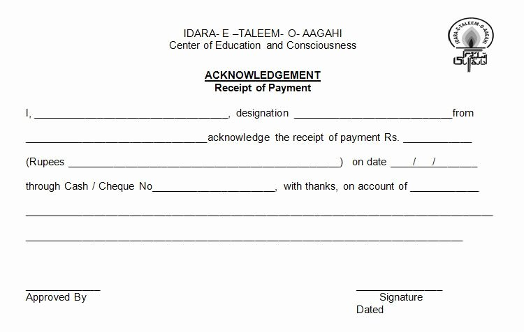 Acknowledgement Of Receipt form Template New Acknowledgement form Sample Philippines Fa6d0c7b0c50
