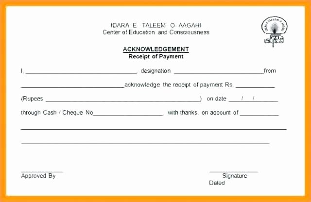 Acknowledgement Receipt Of Payment Beautiful Acknowledgement Receipt form Template 3159ba7b0c50