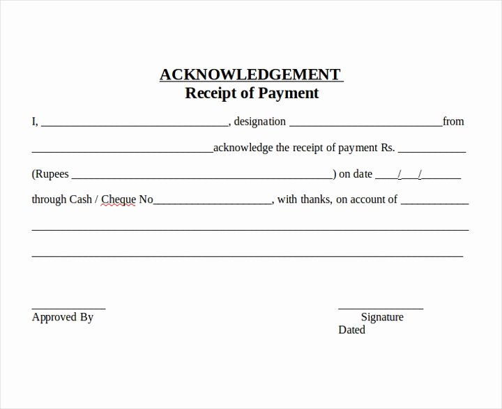 Acknowledgement Receipt Of Payment Lovely 18 Acknowledgement Letter Examples Editable Pdf Word
