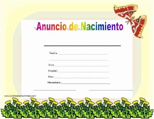Acta Inextensa De Nacimiento English Translation Elegant 25 Best Ideas About Certificado Nacimiento On Pinterest