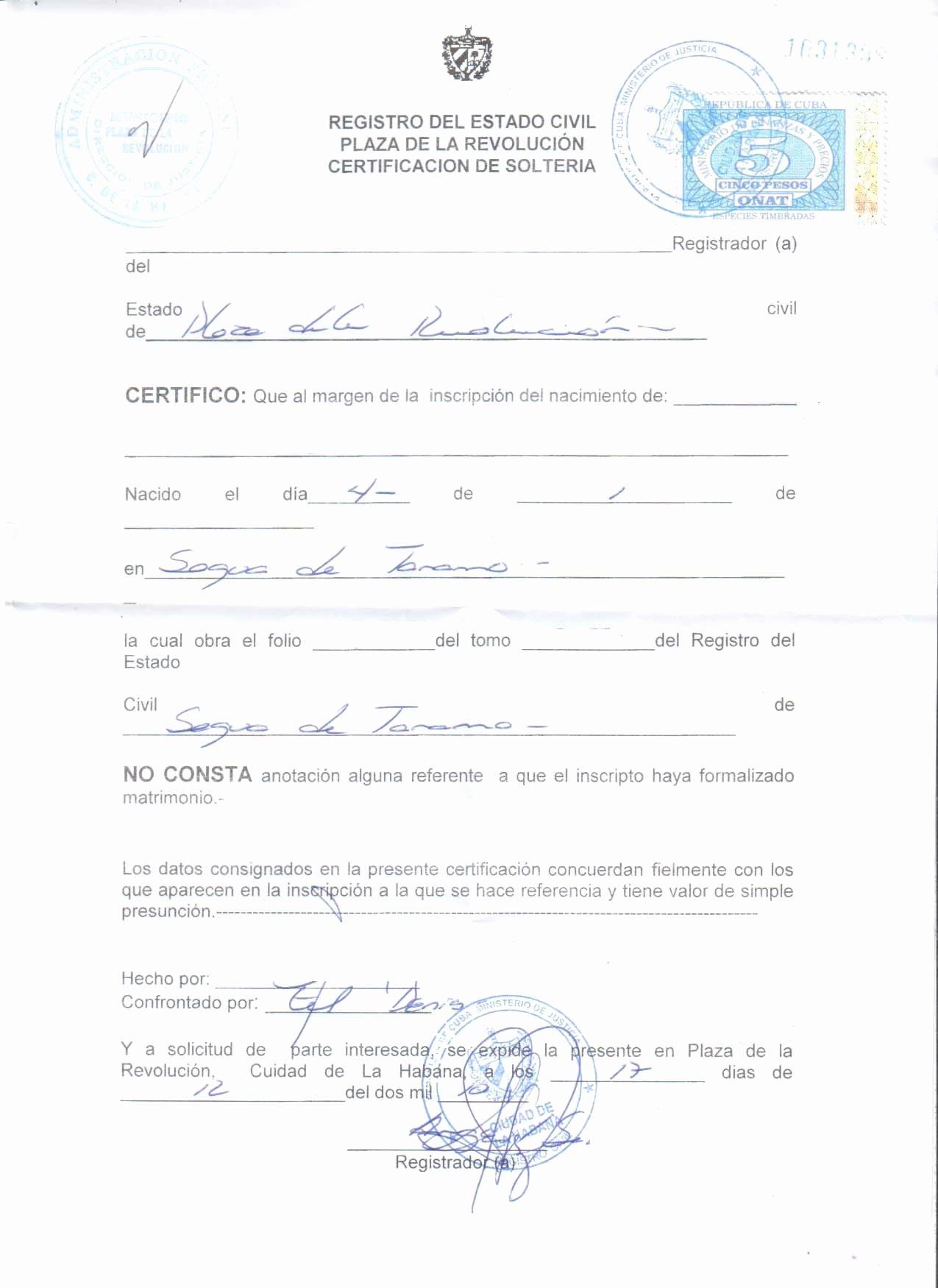 Acta Inextensa De Nacimiento English Translation Luxury Dmytravel