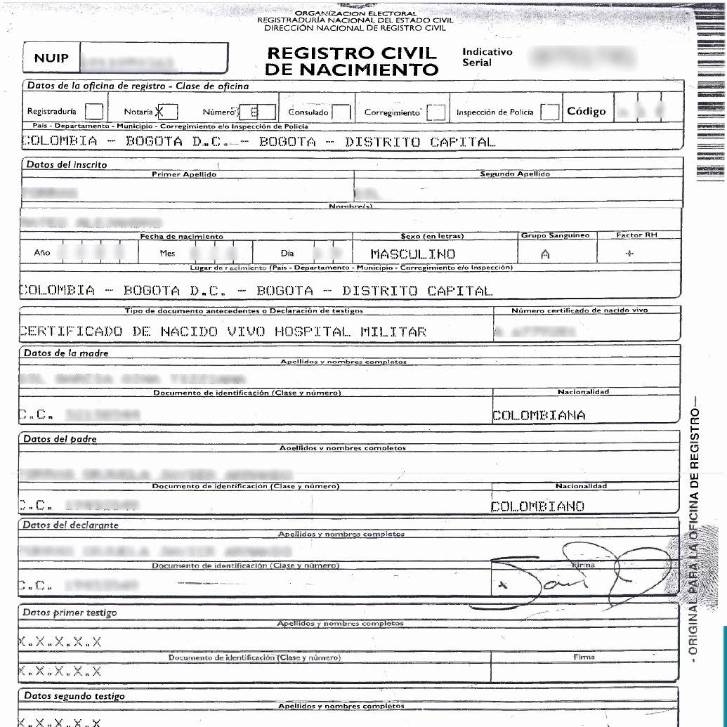 Acta Inextensa De Nacimiento English Translation New Certificado De Matrimonio Certificados T Certificate