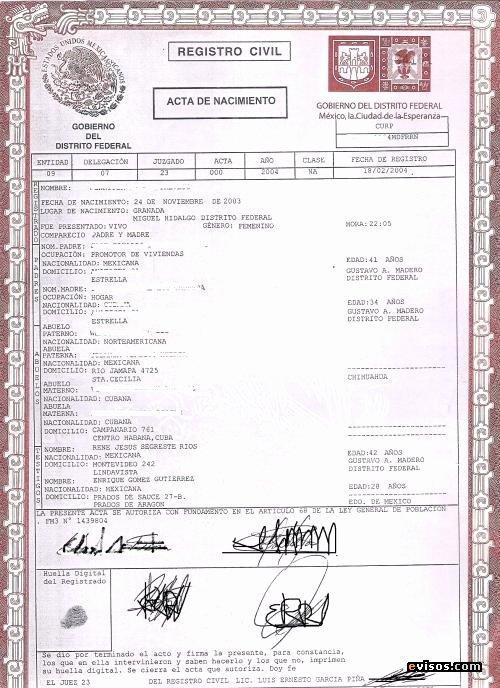 Acta Inextensa De Nacimiento English Translation Unique Traducciones toronto Certificadas Certified