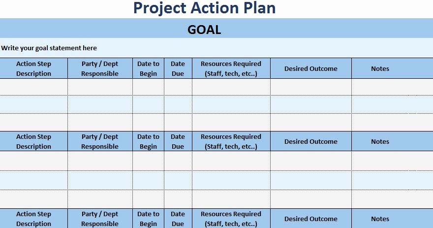 Action Plan Template Excel Elegant 3 Free Project Action Plan Template Xls Free Excel