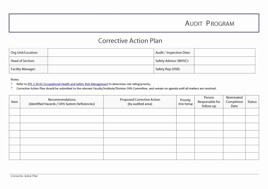 Action Plan Template Excel Inspirational Corrective Action Template Excel Filename – Guatemalago