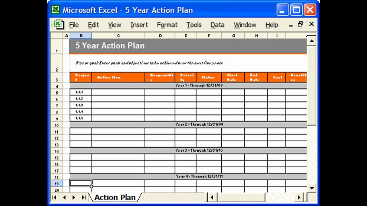 Action Plan Template Excel Luxury Action Plan Template Excel